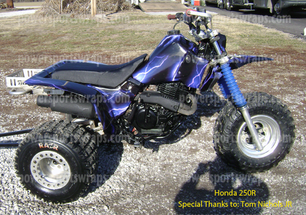 ... Honda ATC Vinyl Wrapu2026 Why Paint Or Replace Plastic When You Can Wrap?  Powersportswraps