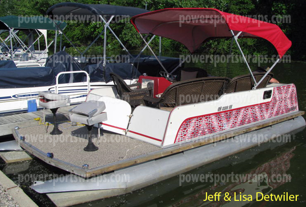 pontoon boat wrap, boat wrap, boat graphics, do it yourself boat wraps by powersportswraps.com