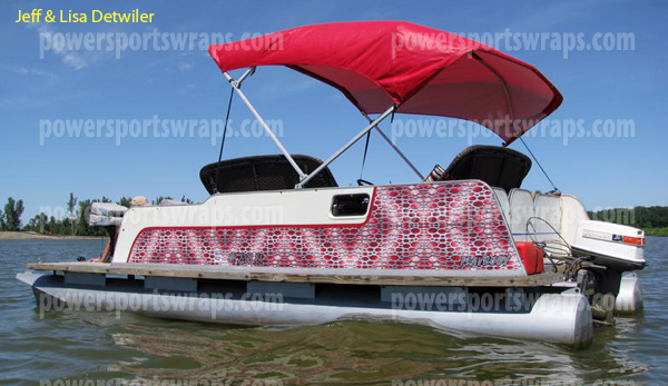 Pontoon Boat Punch Metal Plate Burgundy Vinyl Wrap Jeff