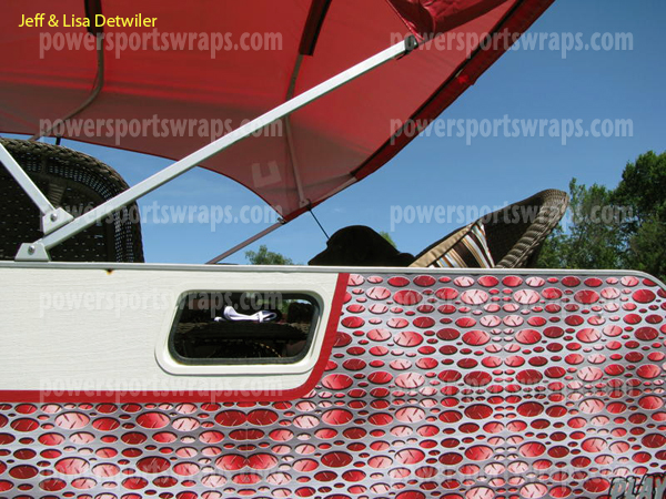 vinyl boat wraps are easy to apply just peel & stick… Why paint? Wrap it. Powersportswraps.com