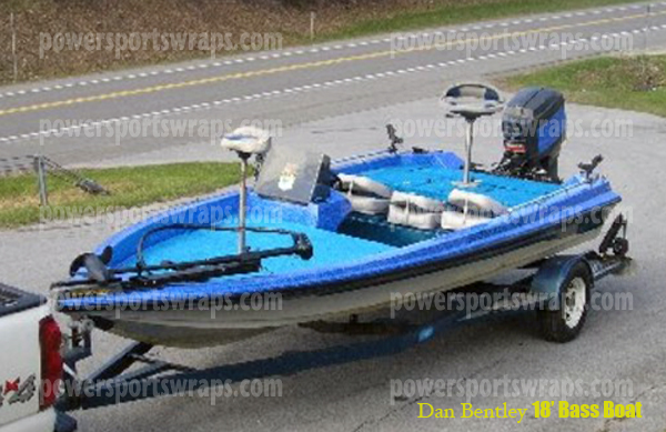 Powersportswraps com bass boat wrap mud boat mud fishing boat wrap monster blue