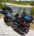 Harley Davidson Flame wrap, decals, baggar wrap by PowerSportswraps.com