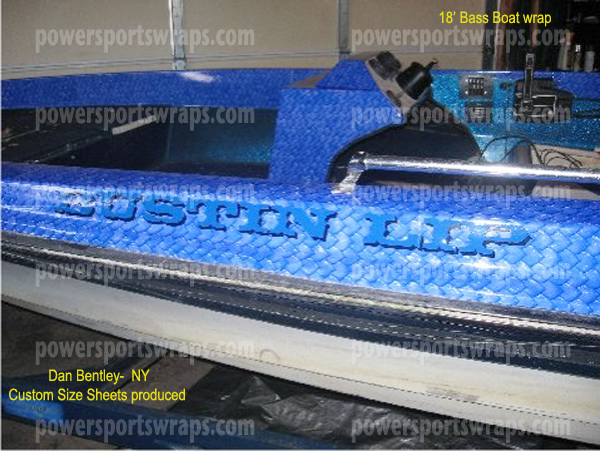 Bass boat wrap boat wraps made to order do it yourself boat wraps bass boat wrap installed by first time user monster blue boat wraps mud solutioingenieria Choice Image