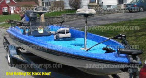 Bass Boat Wrap, Boat Wraps made to order, Do it yourself