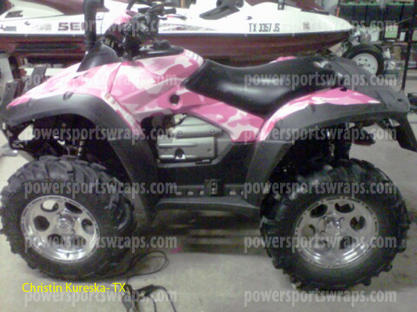Urban Pink camo ATV vinyl wrap, do it yourself wraps from PowerSportsWraps.com, ATV, bike, ski, boat wraps & more..