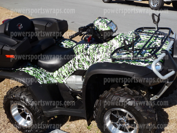 ATV camouflage, camo ATV, UTV camo, Camo film for ATV's and more..