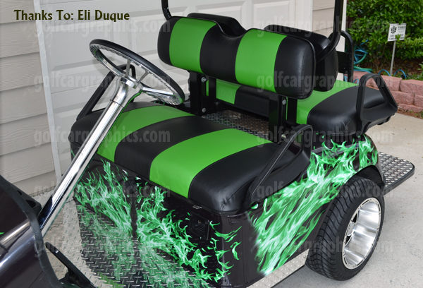 Custom golf cart wraps decals stickers for all make model golf cars