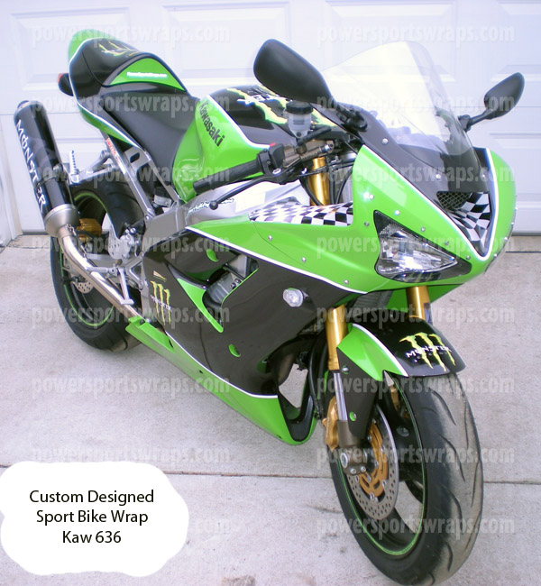 Kawasaki 636 Monster Energy Sport Bike Wrap