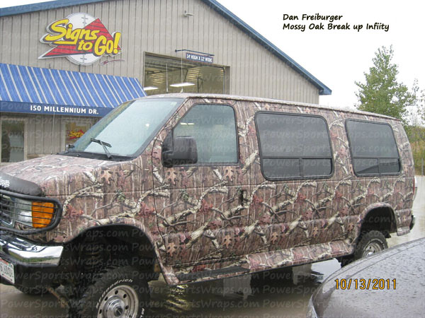 Camouflage vehicle wrapping film from: Mossy Oak, Real Tree, Advantage and more.. contact us for you next camo project: Powersportswraps.com