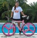 Bicycle wrap, bicycle wheel wrap, Pink camo wheels, custom bike wrap