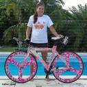 Bicycle wrap, bicycle wheel wrap, Pink camo wheels, custom bike wrap