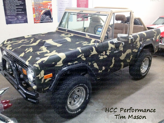 FORD BRONCO URBAN CAMO VINYL WRAP, truck wrap in Green -Brown camo by PowerSportsWraps.com