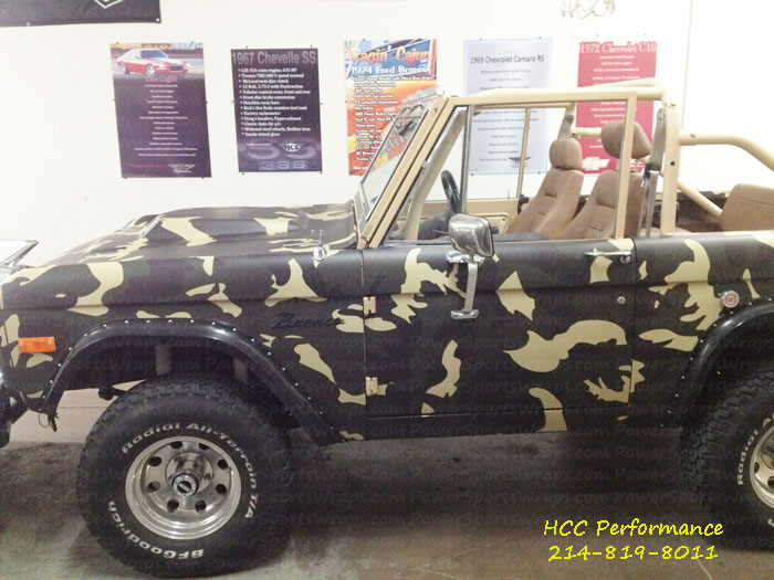 Camo truck wrap custom produced by: PowerSportsWraps.com we have a HUGE selection of camo film for vehicle wraps…