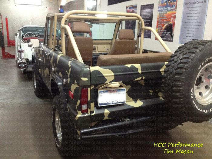 Ford Bronco Urban Camo Vinyl Wrap Camo Truck Wrap