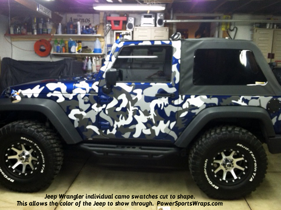 ... Jeep Wrangler Camo decals individual swatches you apply where you want,  just peel and stick