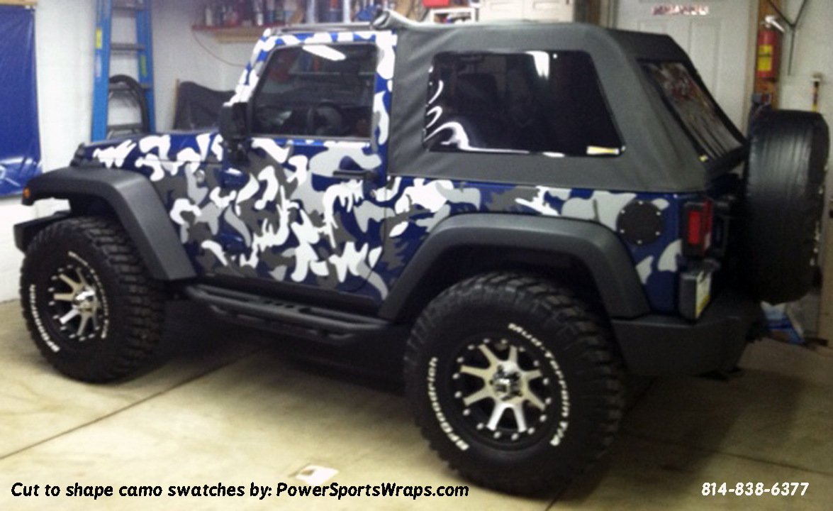 Jeep wrangler camo vinyl decals available in any color combo individual swatches you apply