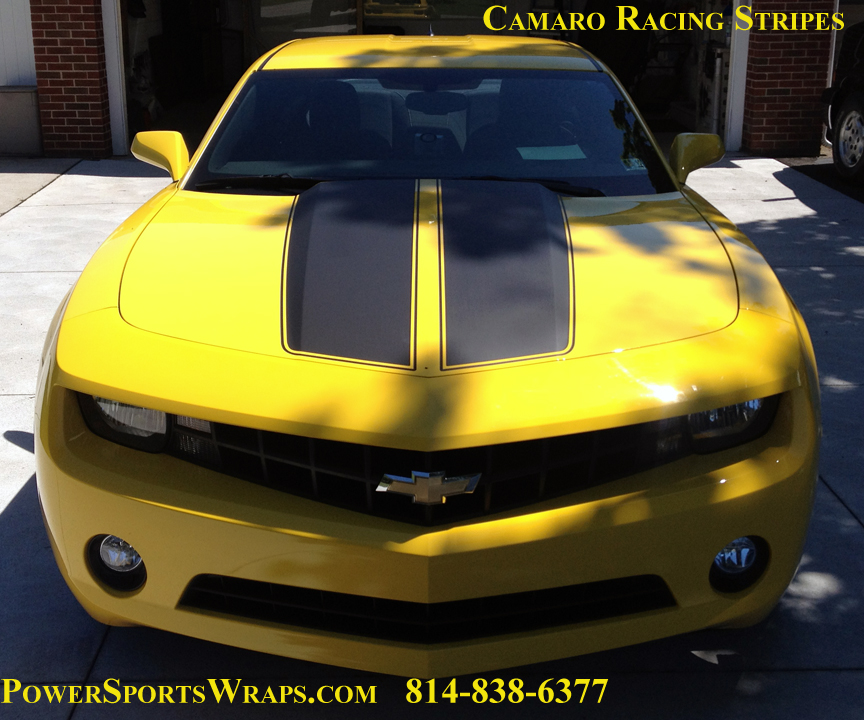 2012 Camaro RS Racing Stripes Matte black with Rear Spoiler