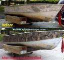 Mossy Oak Duck Blind camouflage boat wrap by: powersportswraps.com