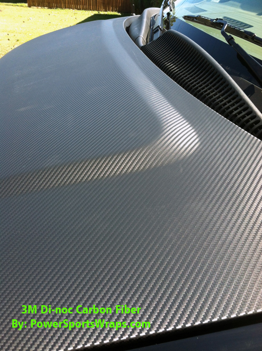Textured Carbon Fiber Vinyl Wrap By Powersportswraps Com