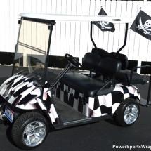 Racing Flag golf car wrap
