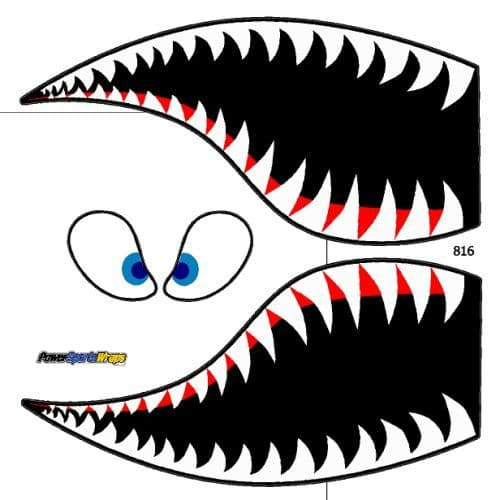 Flying Tigers Shark Face Powersportswraps Com