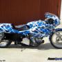 Blue bike wrapping film Confusion 303