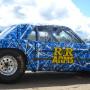 Blue car wrap Mustang 303