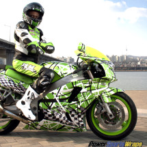 Lime Green Sport Bike vinyl wrap 302 Confusion