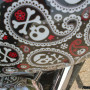 Paisley Skulls HD bike wrap