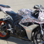 Paisley Skulls motorcycle wrapping film