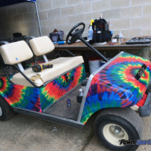 Tie Dye vinyl wrapping film golf cart