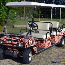 confusion orange golf car wrap301