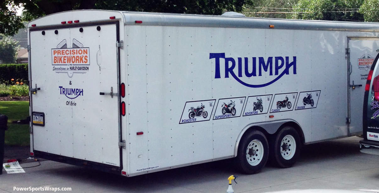 Triumph Of Erie 24 Enclosed Trailer Graphics