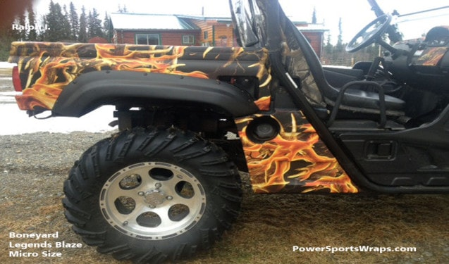 Boneyard Legends Blaze Camouflage UTV Wrap