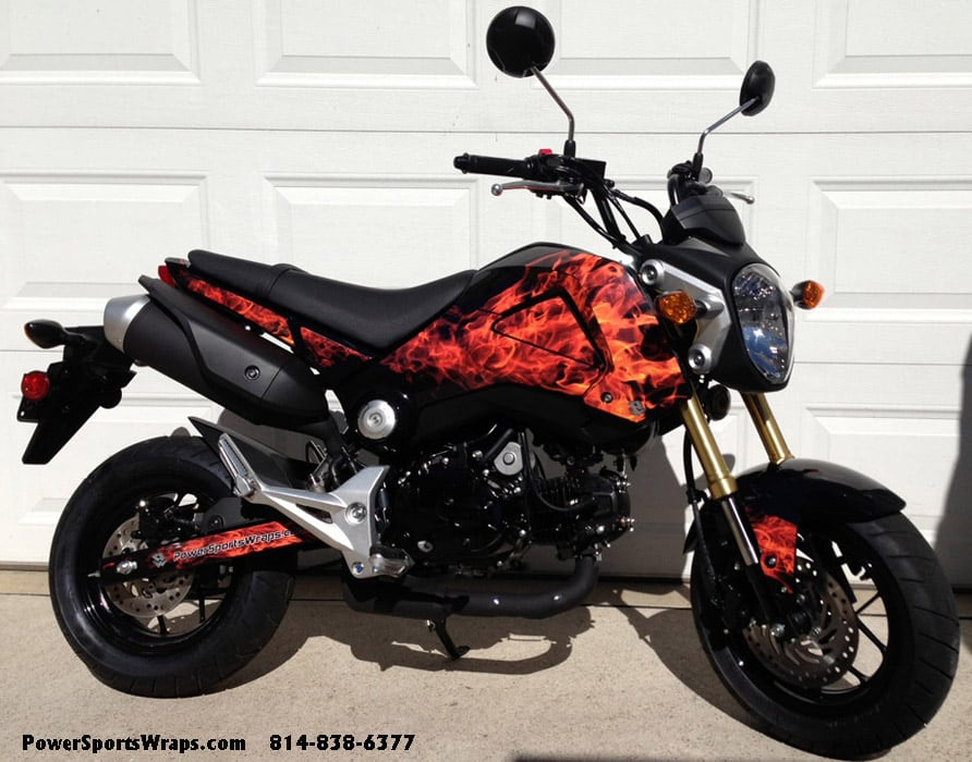 Honda Grom Msx 125 Graphics Kit Natural Flames